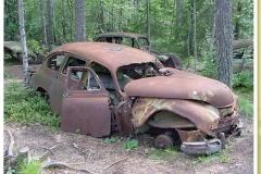 Der sehenswerte Autofriedhof von Ryd, Småland<