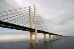 Fahrt mit Finnlines unter der Öresundbrücke durch