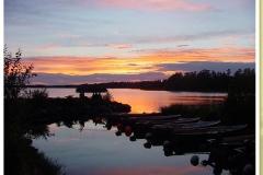 Sonnenuntergang am Åsnen