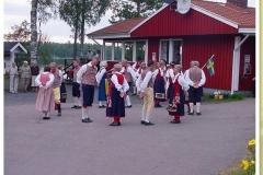Volkstanzgruppe auf dem Sjöstugans Camping bei Älmhult