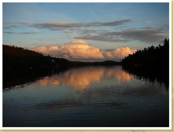 Abendstimmung am Ragnerudssjön Abendstimmung am Ragnerudssjön